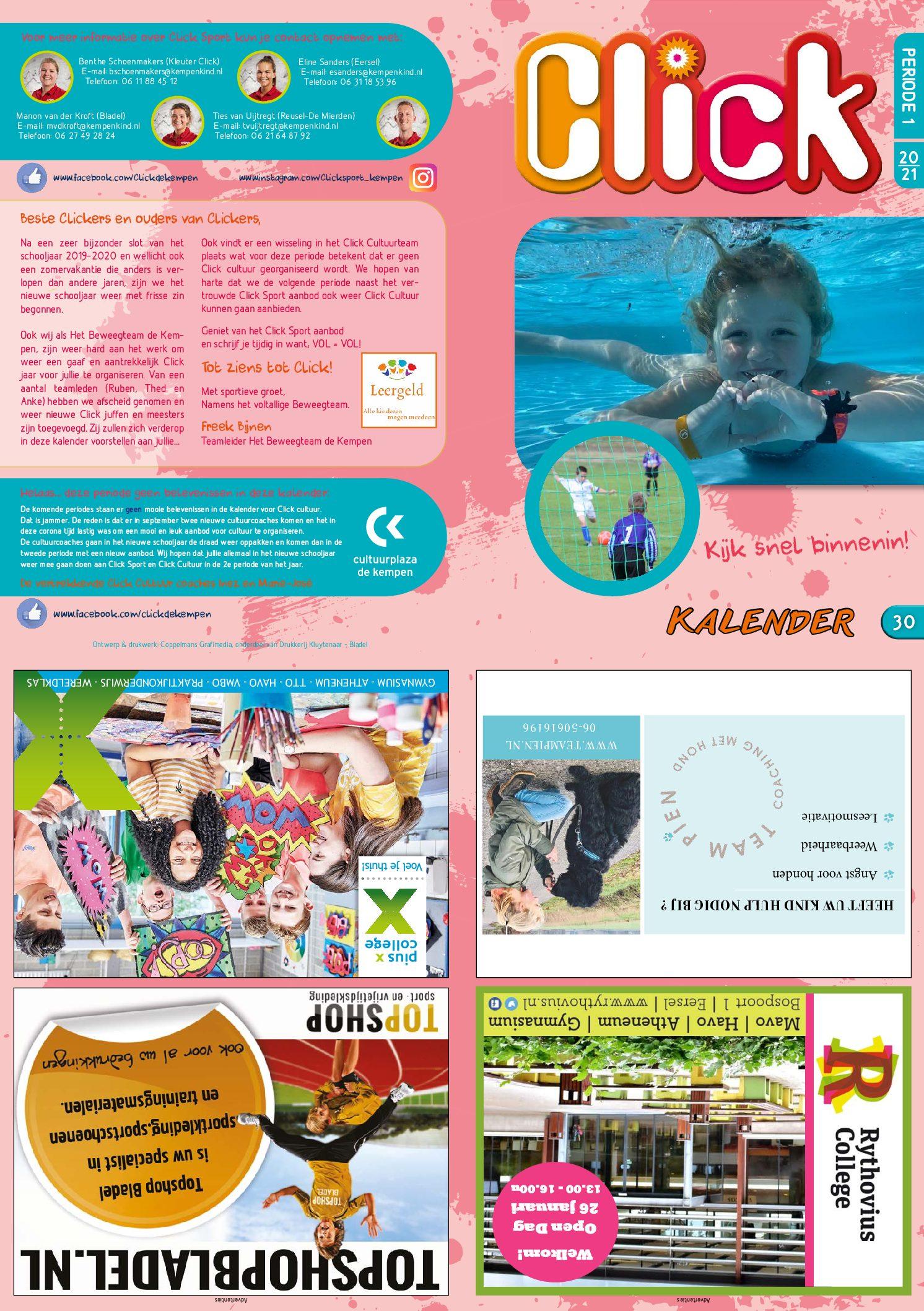 CLICK activiteitenkalender A3-200817